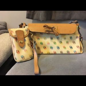 Dooney and Bourke purse and cell phone case